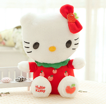 1pc Creative Fruit Hello Kitty Plush Toy 4 Color Style Stuffed Animal Cartoon Toy  Plush Gift  Factory Supply