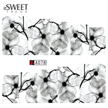 1 Sheet Chinese Ink Wash Painting Nail Art Water Transfer Stickers Beauty Wraps Nail Tips Decals Manicure Decoration LAA078