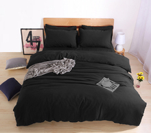 Solid Color Linens USA Russia Size Bedding Sets Custom Size Duvet Cover Set Bed Cover Set Bedclothes black Queen/King/Twin