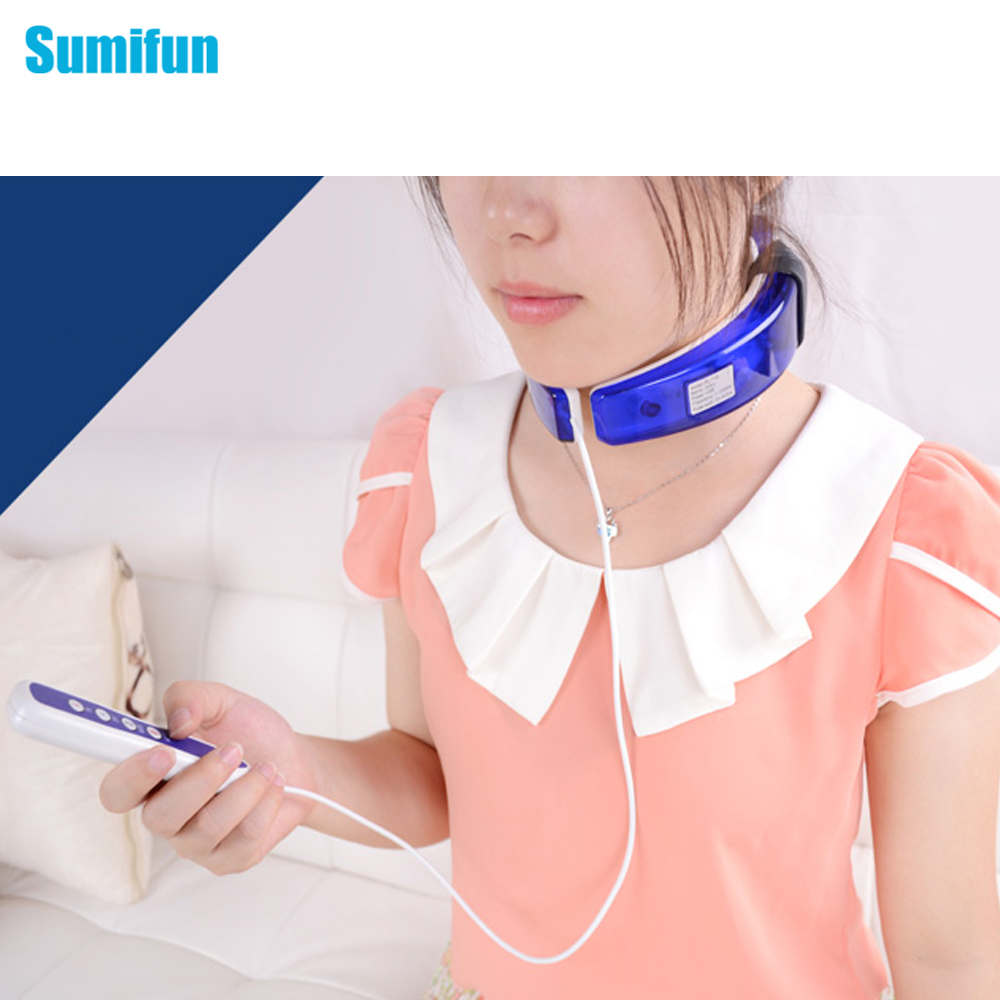 1Pcs Wireless Remote Control Neck massager.Far infrared heating.health care.Cervical therapy instrument.beauty &amp; health C762<br><br>Aliexpress