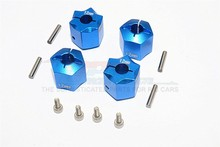 GPM THUNDER TIGER KAISER XS ALLOY WHEEL HEX ADAPTER 12MMX12MM - 4PCS SET HEX1212