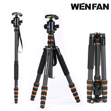 FREE SHIPPING WENFAN R-525 Carbon Fiber  SLR tripod panoramic head portable stable carbon Tripod max load 20 KG WHOLESALE