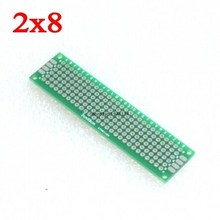 5pcs 2x8cm double Side Copper prototype pcb 2*8 panel Universal Board for Arduino Free Shipping Wholesale 2*8CM(China)