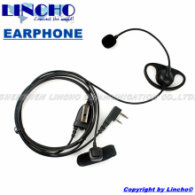 D-shape new 2 pin ear bar mic hands free headset finger PTT for TK3170 PX777 walkie talkie wouxun baofeng TYT