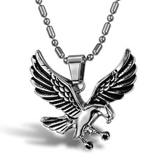 Minilyu new fashion jewelry man / Eagles of the sky Titanium steel necklaces Male personality necklace pendant gift shopping for(China)