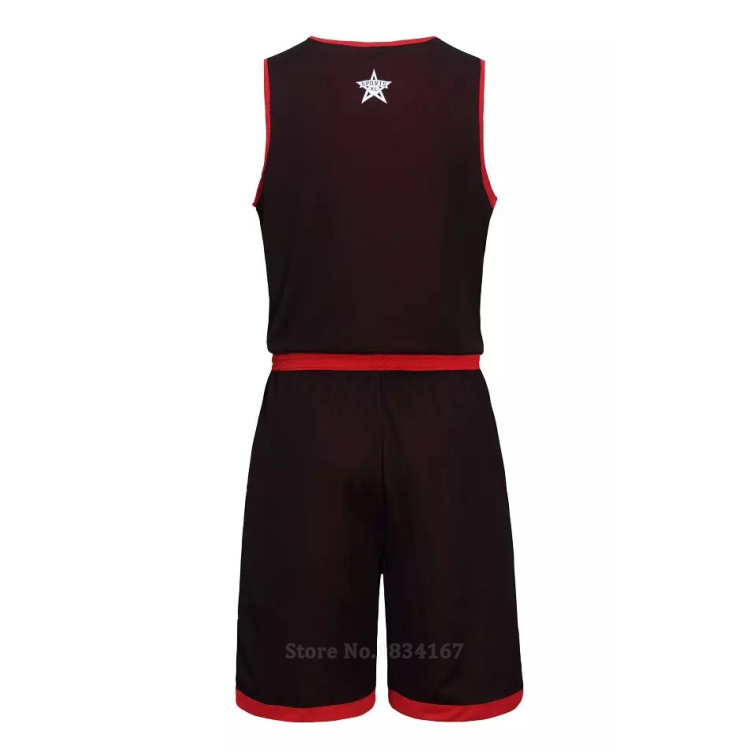 17 Men Reversible Basketball Set Uniforms kits Sports clothes Double-side basketball jerseys DIY Customized Training suits 31
