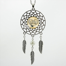 2017 Trendy Style World's Best Mom Necklace Mother's Day Dream Jewelry Dream Catcher Pendant Necklace DC-00545(China)