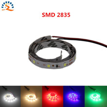2017NEW 0.5m Ultra Bright 300leds 5m LED Strip Light Ribbon Flexible 60leds/m SMD 2835 12V DC Green Red Blub Warm White(China)