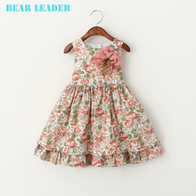Bear Leader Girls Dress Summer 2017 Brand Girls Clothes Kids Dresses Floral Sleeveless Children Dress Princess Costume 3-7Y