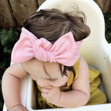 Buy Bebe Headband Sweet Girls Bow Hairband Kids Turban Knot Rabbit Head Wrap Rabbit Ear Bow Headwear Hair Accessories for $1.91 in AliExpress store