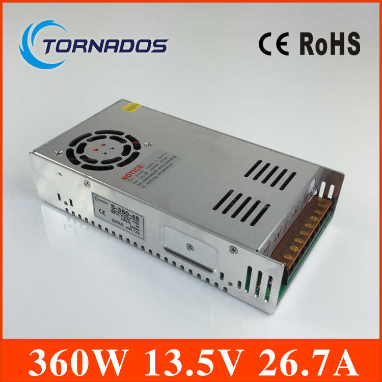 power suply 13.5v 360w ac to dc power supply ac dc converter ac dc 13.5v  power supply high quality S-360-13.5<br>
