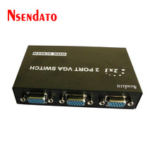 2 in 1 out 15 Pin vga switch 2 port kvm vga switch Audio splitter Box For computer LCD Display minitor VGA Video Switcher(China)