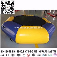 0.9mm PVC inflatable water trampoline float,exciting jumping trampoline,inflatable water trampolinefor sale(China)