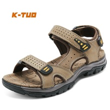 K-TUO New Arrival Men Spring Walking Shoes Male Outdoor Sport Summer Sneakers Walking Genuine Leather Sandals KT-1518(China)