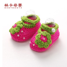 Retail Newborn Toddler Crochet Shoes Infant Snow Booties Baby Cute Handmade Boots Free Shipping