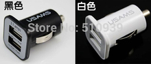 1pcs Micro Auto Universal Dual 2 Port USB Car Charger For iPhone iPad iPod 3.1A Mini Car Charger Adapter / Cigar Socket