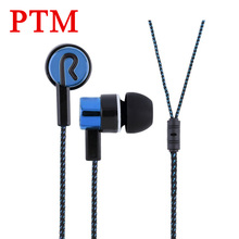 In ear Stereo Sport Headset Good Quality Hifi Earbuds Cloth Wire Cheapest Earphones for Samsung iPhone Phone MP3 MP4