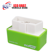 EcoOBD2 Green Economy Chip Tuning Box OBD Car Fuel Saver Eco OBD2 for Benzine Cars Fuel Saving Free Shipping(China)