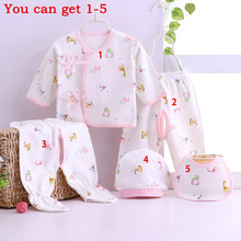 0-3 months Baby Clothes Cotton Newborn Underwear Set Small Mushroom Baby Clothes Five Sets Spring and Autumn(China)