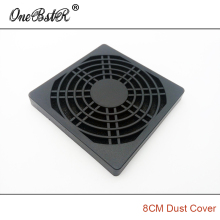 Free shipping 8CM Fan Dust Cover Plastic Dust-Proof Net 80mm Three in One Grille for 8010/8015/8020/8025 AC/DC Fan Hot selling