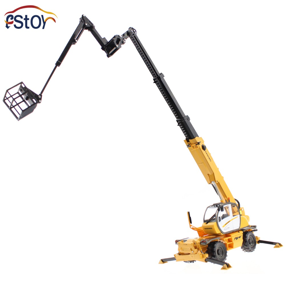 Alloy diecast Crane truck Model 1:50 multifunction hoist mini scale engineering vehicle Collection gift Toy<br>