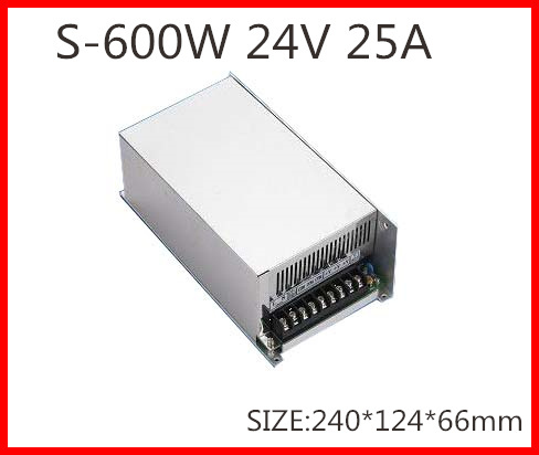 600W 24V 50A  Single Output Switching power supply for LED Strip light  AC-DC S-600-24<br>