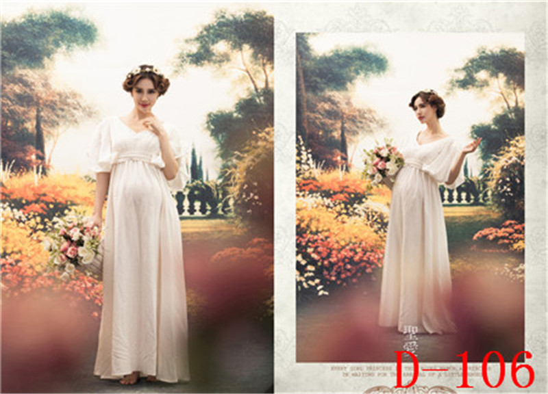 New Maternity pregnant women Photography Props Photo shoot Pregnancy Pure Milk white Elegant Romantic Fancy clothing Baby shower<br><br>Aliexpress