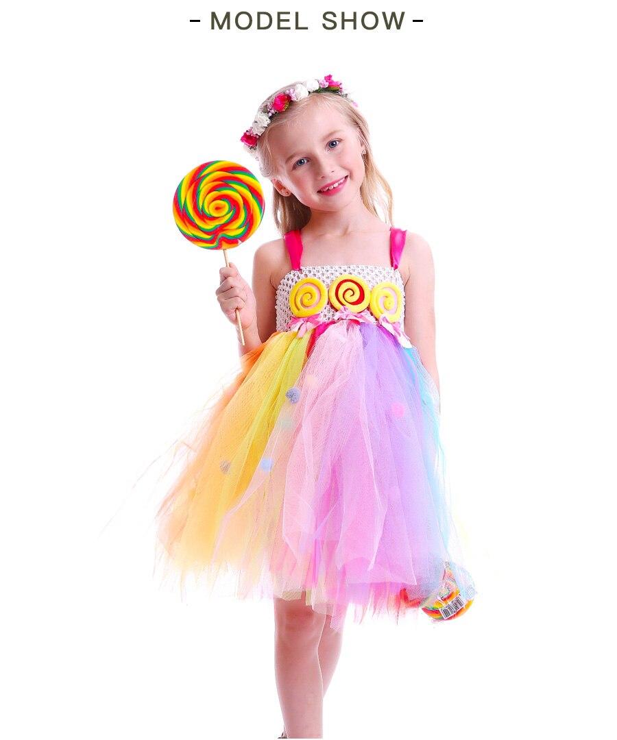 Lollipop Candy Girls Tutu Dress Kids Rainbow Birthday Party Dress Children Sweet Candy Land Outfit Girls Dance Recital Gown (16)