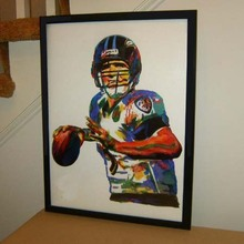 TOP Original abstract ART oil painting # Joe Flacco, Baltimore Ravens, Quarterback, Football, Sports- hand painted OIL painting(China)