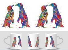 love penguins mugs heat changing color heat reveal mugen magic mug tea coffee  ceramic mugen novelty