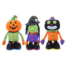 Cute Halloween Plush Stuffed Toy Telescopic Spoof Whimsy Decor Furnishing Articles Doll For Kids Holiday Gift(China)