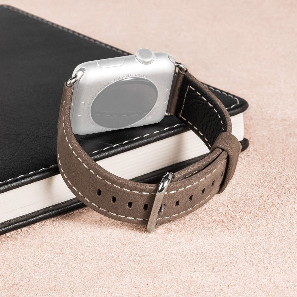 High Quality HOCO Brand Luxurious Genuine Leather Band Strap Stainless Steel Buckle Adapter Belt for Apple iWatch 42mm<br><br>Aliexpress