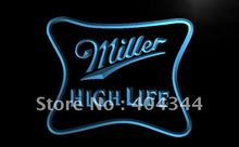 LE077- Miller High Life Beer Ad Bar Pub LED Neon Light Sign