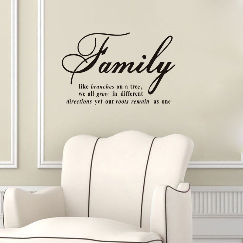 Family Like Branches On A Tree Wall Stickers Quotes Vinyl Art Mural Decorations For Walls Home