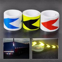 "2""X10'' 5cm x 3M Reflective Safety Caution Arrow Warning Conspicuity Tape Film Sticker For Bikes Bicycles Cars Motorcycles Ships"