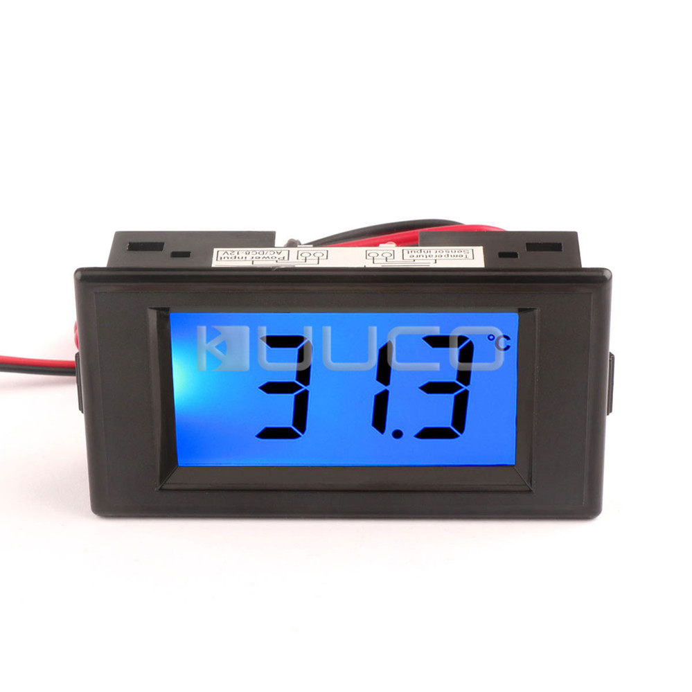 AC / DC 8~12V LCD Blue Backlight Display Digital Thermometer -50~150 Celsius Degrees Temperature Tester Meter<br><br>Aliexpress