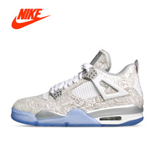 New Arrival Official Nike Air Jordan 4 Laser AJ4 Women's Breathable Basketball Shoes Sports Sneakers(China)