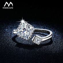 MDEAN Opened Size Cute Style Party Rings For Women  White Gold Color Jewelry AAA Zircon Bague Accessories Bijouterie MSR316
