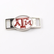 Texas A&M Aggies NCAA Team Logo Oval Shoelace Charms For Sport Shoes And Paracord Bracelets Jewelry Decoration 6pcs