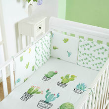 6Pcs/Lot Baby Bumper for Infant Bed Cartoon Fruit Plant Cloud Newborn Crib Bumper Protector Safety Baby Bed Bumper Bedding Decor(China)