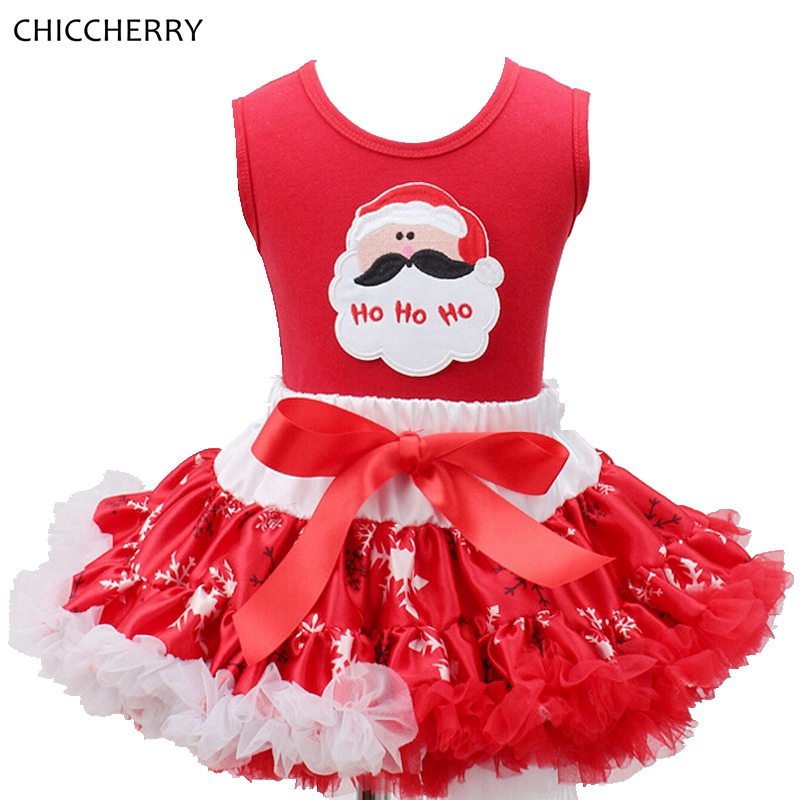 Santa Claus Christmas Clothes for Kids Sleeveless Children Dress Infant Lace Tutu Skirt &amp; Top Set Vestido Child New Year Costume<br><br>Aliexpress