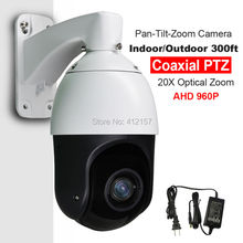 "CCTV IP66 Outdoor Security 4"" MINI SIZE High Speed Dome PTZ Camera AHD 960P 1.3MP 20X Zoom Auto Focus IR100M Coaxial PTZ Control"