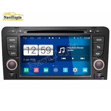 NAVITOPIA S160 Quad Core 1024*600 Android Car Radio for Audi A3 GPS Navigation with DVD RDS Wifi Mirror-link 16GB Nand Flash
