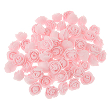 New Hot 100x Plastic Rose Head Decorative Artificial Flower Party Bridal Gift DIY Home Wedding Decoration Party Accessories