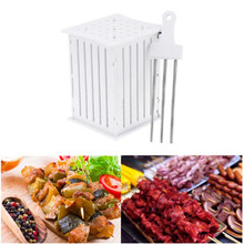 BBQ 36 Holes Meat Skewer Kebab Maker Box Machine Beef Meat Maker Grill Barbecue Kitchen Accessories Tools For Kitchen ZQ891985(China)