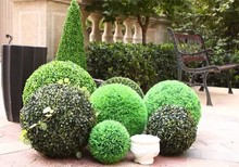 "7.2"" ARTIFICIAL BOXWOOD BALL IN OUTDOOR UV TOPIARY PLANT BUSH FLOWER ROUND PORCH(China)"