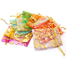10pcs 7x9/9x12cm Wedding Decoration Organza Jewelry Bags Mixed Color Candy Gift Bags Party Wedding Favors Packaging Bags(China)