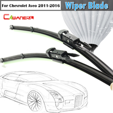 Cawanerl Frameless Soft Rubber Wiper Blade Windshield Car Windscreen Wiper Blades Bracketless For 2011-2016 Chevrolet Aveo