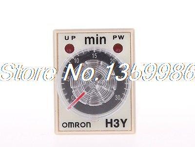 10pcs  time timer relay 8pin H3Y-2 H3Y AC110V 5A  1min-30min 30min<br>