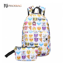 HJPHOEBAG Hot sale! new women Canvas Backpacks Character ladies Backpack Fashion School bag For Teenage Girls travel bag W-522